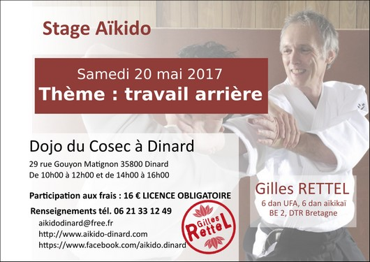 Stage aikido Gilles Rettel 20 mai 2017